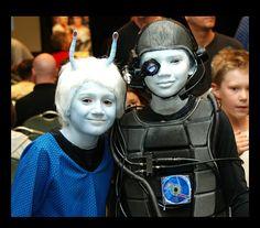 Star Trek Cosplay kids Andorian and Borg