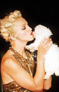 Sending love & kisses to our beloved Liz Rosenberg Media who lost her longtime doggie friend yesterday. The famous and lovely puppy was given to her by Madonna right after the doggie's Jean Paul Gaultier fashion show appearance back in 1994. (by Madonna)