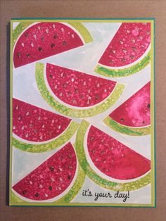 Stampin Up Paper Pumpkin June 2017 One in a Melon alternative by Pat McG.