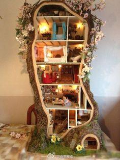 梦幻的创意树屋,非常精致可爱。