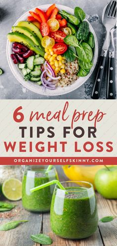 6 Meal Prep Tips for Weight Loss | Clean Eating Tips for Weight Loss - Looking for some meal prep tips to help you ease stress and eat better? Here are six tips to keep your meal prep on track and help you reach your health goals! Organize Yourself Skinny | Weight Loss Tips for Beginners | How To Lose Weight | Meal Planning Tips #mealprep #mealplanning #weightloss #healthyeating Healthy Freezer Meals, Healthy Meal Prep, Healthy Foods To Eat, Healthy Cooking, Healthy Eating, Healthy Recipes, Skinny Recipes, Cooking Tips, Fast Weight Loss Tips