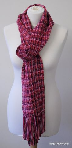 Handwoven Extra Long Scarf by TheQuiltedWeaver on Etsy