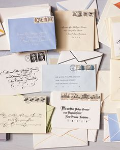 Rather than having your entire invitation suite hand-calligraphed, focus on the first thing guests will see--your envelopes