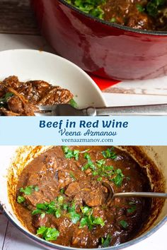 Fork-tender piece of beef cooked in a rich red wine gravy make this simple and easy recipe for beef in red wine the best dinner. Serve over steamed rice or mashed potatoes for a complete meal #beef #redwine #beefstew #beefrecipe #beefinredwine #beefdinner #beefslowcooked #slowcookedbeef #howtobeef