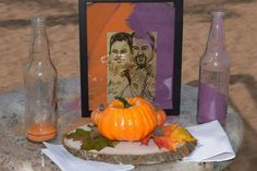 Ring pumpkins with sand ceremony