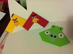 angry birds crafts | Angry Birds and Pig corner bookmark | Flickr - Photo Sharing!