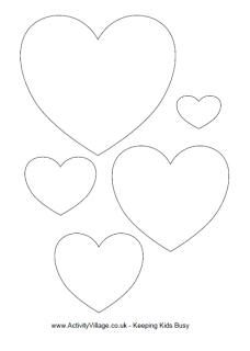 Heart templates 3