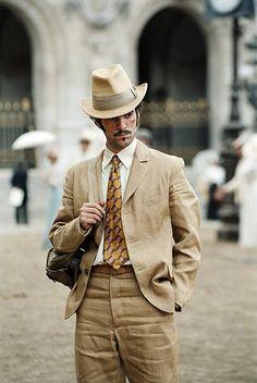 """Romain Duris - """"Arsene Lupin"""" (2004) - Costume designer : Pierre-Jean Larroque"""
