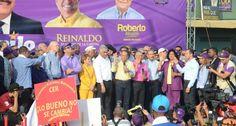 Video: Con enorme marcha Danilo Medina y PLD  proclaman candidatos senadores y alcaldes del Gran Santo Domingo