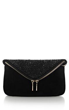 Ltd crystal encrusted Karen Millen #clutch