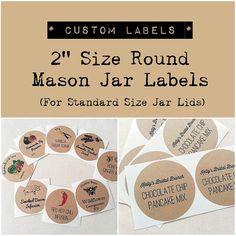 2 Custom Mason Jar Labels. Wedding Favor by OnceUponSupplies, $18.00