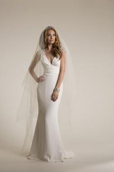 Avedon. Iconic shaping and vintage inspired sex appeal in sumptuous silk crepe. | Amy Kuschel wedding dress.