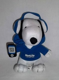 Snoopy Plush With Head Phones I Can Do This - Sits 6 Inch… Metlife Snoopy, Snoopy Plush, 6 Inches, I Can, Headphones, Canning, Toys, Fictional Characters, Activity Toys