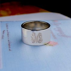 Hey, I found this really awesome Etsy listing at https://www.etsy.com/listing/185373381/personalized-monogram-ring-sterling