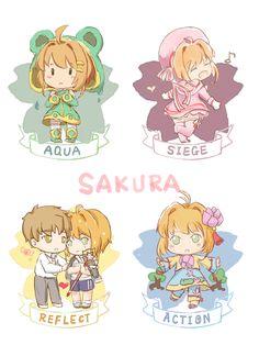 Sakura and Syaoran, by Pixiv Id 20475586 Kawaii Chibi, Cute Chibi, Anime Chibi, Anime Manga, Anime Art, Sakura Kinomoto, Syaoran, Sakura Card Captor, Haruhi Suzumiya