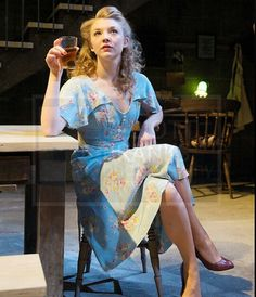 Natalie Dormer in Natalie Abrahami's production of 'After Miss Julie' at The Young Vic Theatre in London, 2012.