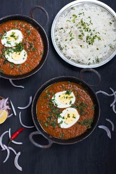 Easy recipe for an Indian curry favourite where boiled eggs are simmered in a spicy onion and tomato gravy. Makes for an easy weeknight dinner or a great Sunday lunch. Gluten free, Paleo and Whole 30 Spicy Recipes, Curry Recipes, Egg Recipes, Wine Recipes, Indian Food Recipes, Soup Recipes, Vegetarian Recipes, Cooking Recipes, Healthy Recipes