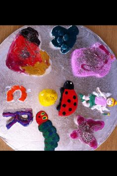 Salt Dough - painted with acrylic paints and glossed. Great to use for imaginative story making!