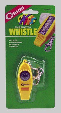 Coghlan's 4 Function Whistle For Kids Camping Gear - http://www.campingandsleepingbags.com/coghlans-4-function-whistle-for-kids-camping-gear/