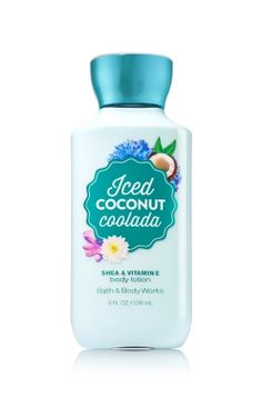 Iced Coconut Coolada - Body Lotion - Signature Collection - Bath & Body Works - America's #1 Body Lotion! Infused with Shea Butter and our exclusive Daily Moisture Complex, our enhanced lotion contains more of what skin loves, leaving it feeling incredibly soft, smooth and nourished. Fortified with nutrient-rich ingredients like protective Vitamin E and conditioning Vitamin B5, our fast-absorbing, non-greasy formula delivers 16 hours of continuous moisture.