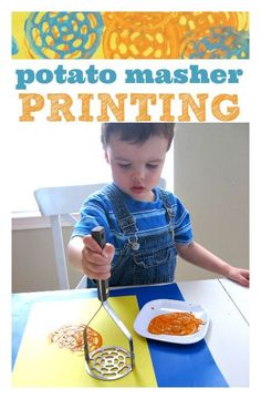 potato masher prints - so easy and makes the coolest prints ever!