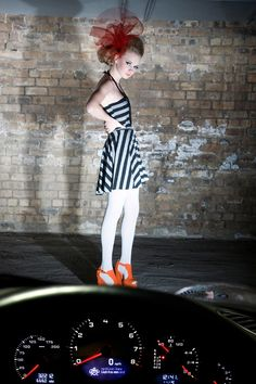 Striped skater dress - Louise Devlin Couture