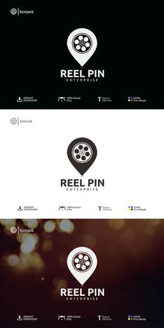 Reel Pin - Cinematography Logo Adobe Illustrator Software, Solid Line, Logo Design, Graphic Design, Photography Logos, Coreldraw, Logo Ideas, Cinematography, Indian Beauty
