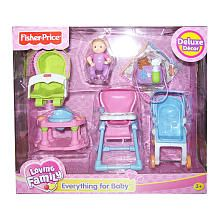 """Fisher-Price Loving Family Dollhouse Furniture Set - Everything for Baby - Fisher-Price - Toys """"R"""" Us"""