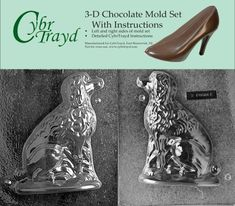 Cybrtrayd DOG003AB Chocolate Candy Mold Includes 3D Chocolate Molds Instructions and 2Mold Kit Poodle * Check out this great product.