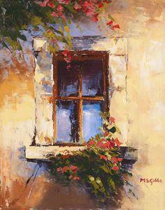 Love the idea of painted windows