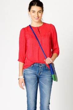 Red Dotty Blouse - really cute!
