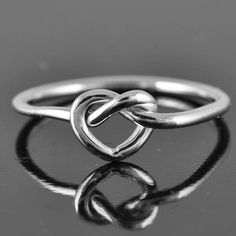 Bridesmaid gift ideas love knot ring heart knot ring infinity ring heart by JubileJewel, $25.00