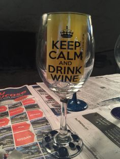 Keep Calm and Drink Wine Vinyl Wine Glass Decals, Birthday Party by PersonalizedJewellz on Etsy