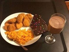 When we were left alone for dinner... (w/o cosmic brownies)