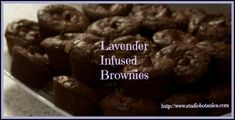 Decadent Lavender infused Cocoa Brownies | Studio Botanica gonna try this with my doTerra lavender oil!