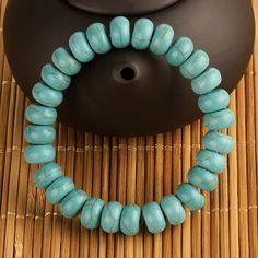 Tension Mounted Stone Beaded Bracelet