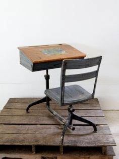 Vintage School Desk // Children's Desk.