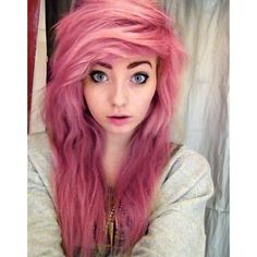 tumblr girls ❤ liked on Polyvore featuring hair, people, girls, anons and emo hair