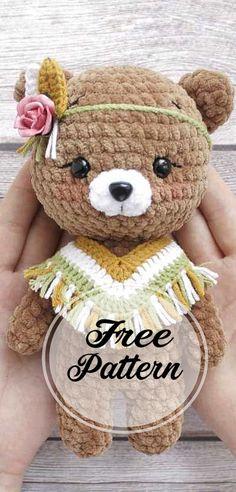 Crochet bear and panda amigurumi free pattern part crochet amigurumi; amigurumi instructions free of charge; Crochet Easter, Crochet Toys, Free Crochet, Crochet Panda, Crochet Christmas, Crochet Bear Patterns, Amigurumi Patterns, Knitted Teddy Bear, Easy Knitting Projects