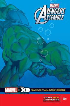 MARVEL UNIVERSE AVENGERS ASSEMBLE #9 Adapted by Joe Caramagna • The fiendish Attuma send monsters and a giant tidal waves to sink the island of Manhattan! • Hulk must prove that he is the strongest one there is…or perish! 32 PGS./All Ages …$2.99