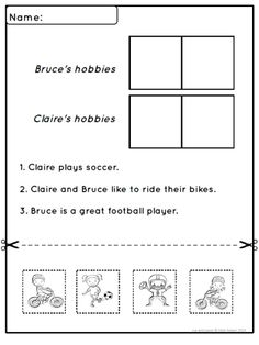 Cut and paste - kindergarten reading challenge