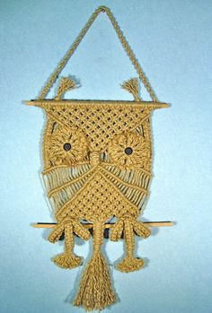 Macrame Wall Hanging Owl by MacrameIdeas on Etsy, $40.00