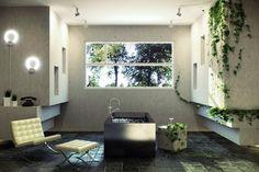 Salles de bains connectées à la nature