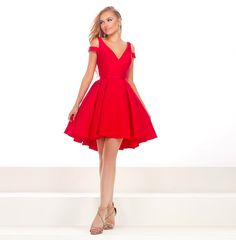 Janique V Neck Cap Sleeve Short Prom Dresses 2017 Red Formal Dresses, White Homecoming Dresses, Floral Prom Dresses, Prom Dresses 2017, Short Dresses, Cocktail Vestidos, Formal Cocktail Dress, Curtido, Business Dresses