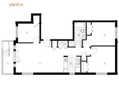 Floor plan of unit I'm staging - 3 bedrooms - Le Desaulniers condos