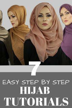 7 Easy Step By Step Hijab Tutorials - Hijab+ 7 Easy Step By Step Hijab Tutorial. 7 Easy Step By Step Hijab Tutorials – Hijab+ 7 Easy Step By Step Hijab Tutorials Easy Hijab Style, Hijab Style Tutorial, Abaya Fashion, Modest Fashion, Fashion Outfits, Fashion Group, Fashion 2020, Modest Dresses, Modest Outfits