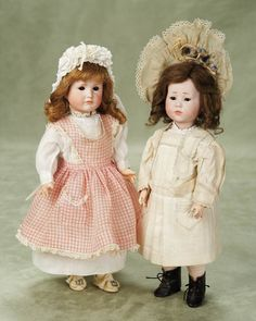 """Petite German Bisque Character,114,""""Gretchen"""" by Kammer and Reinhardt with Rare Glass Eyes 12"""" (30 cm.)"""
