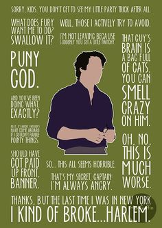you gotta appreciate bruce banner's underrated humor and wit in the avengers :)