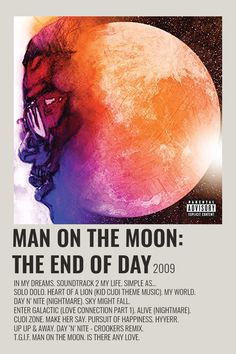 Room Posters, Poster Wall, Music Posters, Day And Nite, Minimalist Music, Rock Band Posters, Artist Wall, Pochette Album, Kid Cudi