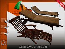 Mesh Long Chairs 3 set Full perm